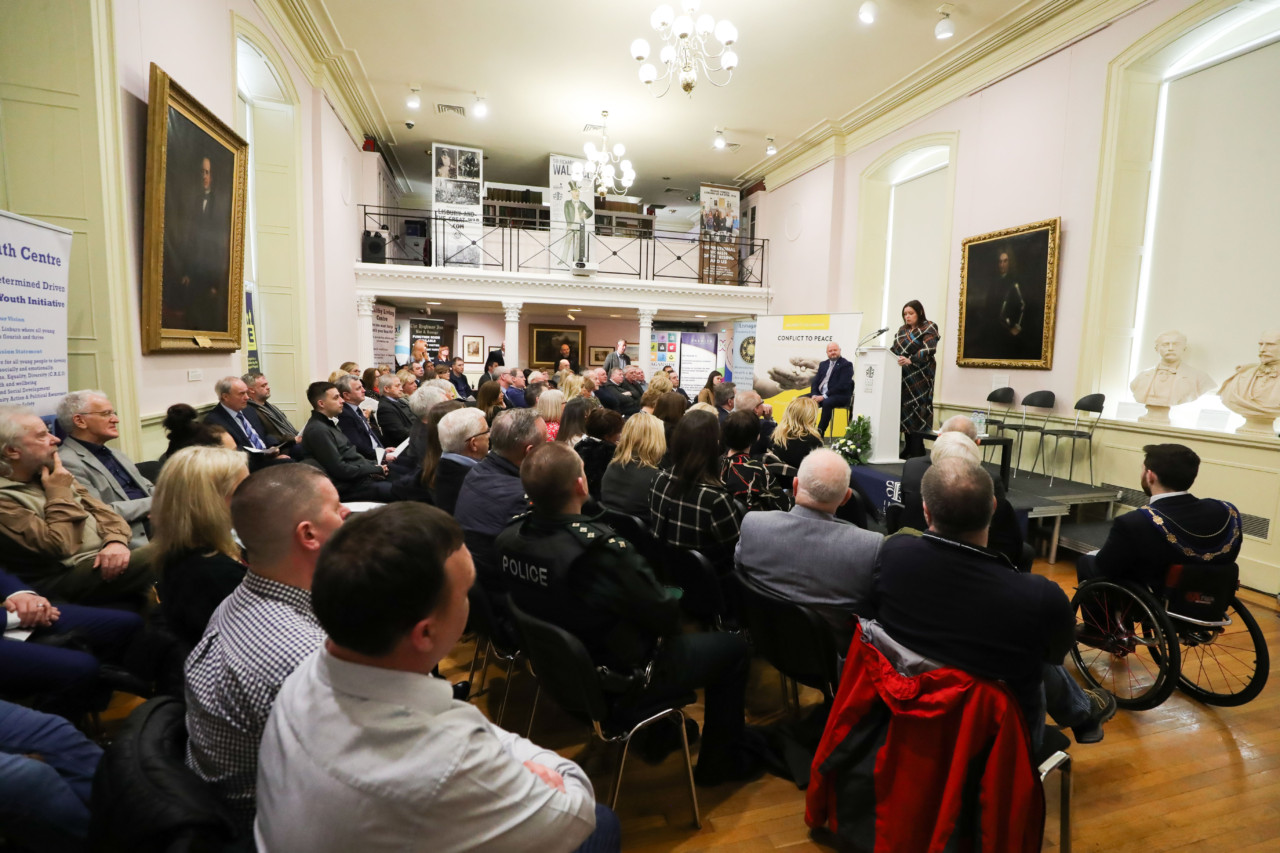Our book launch at Lisburn Museum 14th Feb 2020