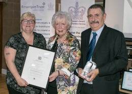 Pic 1 - L-R Trish McCormick, Her Majesty's Lord Lieutenant of Co Antrim, Mrs Joan Christie CVO OBE and Bobby McCormick.