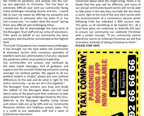 Resurgam News Edition 20 front page