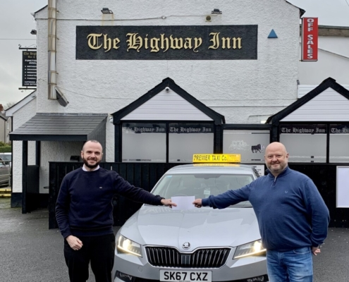 Premier Taxis raise nearly £5,000 for charity